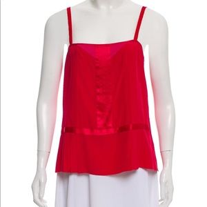 Marc Jacobs Red Silk Top Sz 4